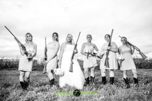 The Bridal Party with Rifles