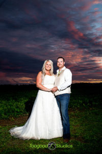 Sunset Wedding Couple Photo
