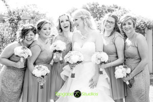Bridal Party Sharing a Laugh