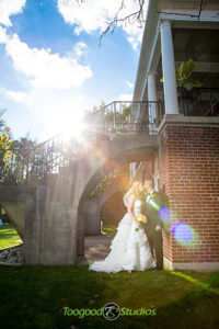 Sunkissed Bride and Groom