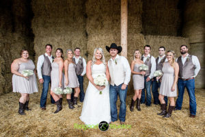 Wedding Party Photo in the Barn
